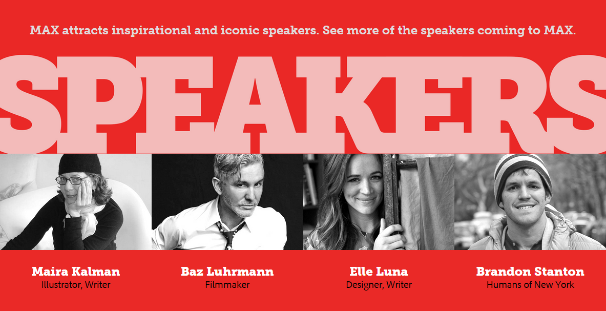 Adobe Max 2015 Speaker