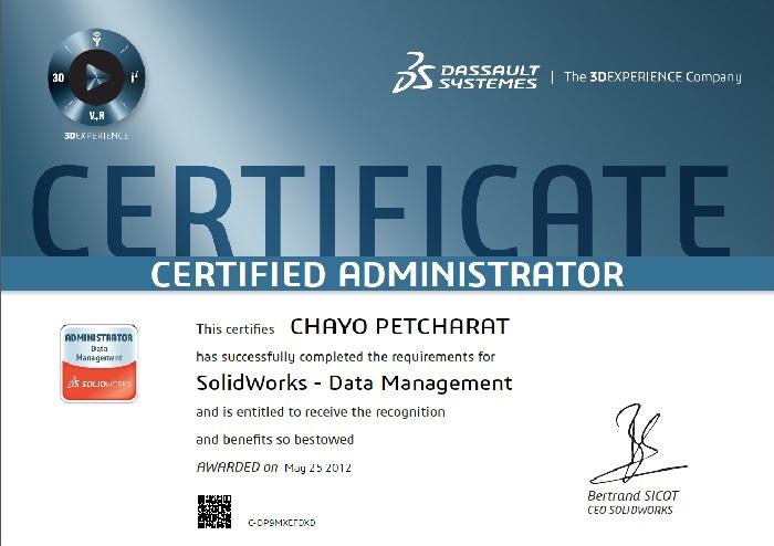 Certificate สำคัญไฉน Applicad Public Company Limited