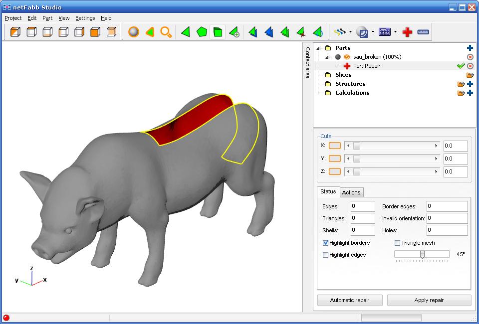 Best 3D Printing Software #9: Netfabb Basic