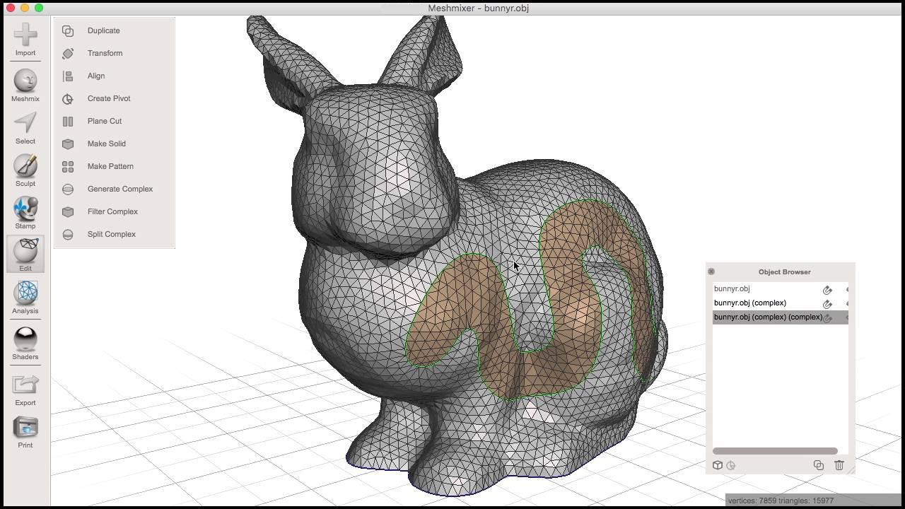 Best 3D Printing Software #19: Meshmixer