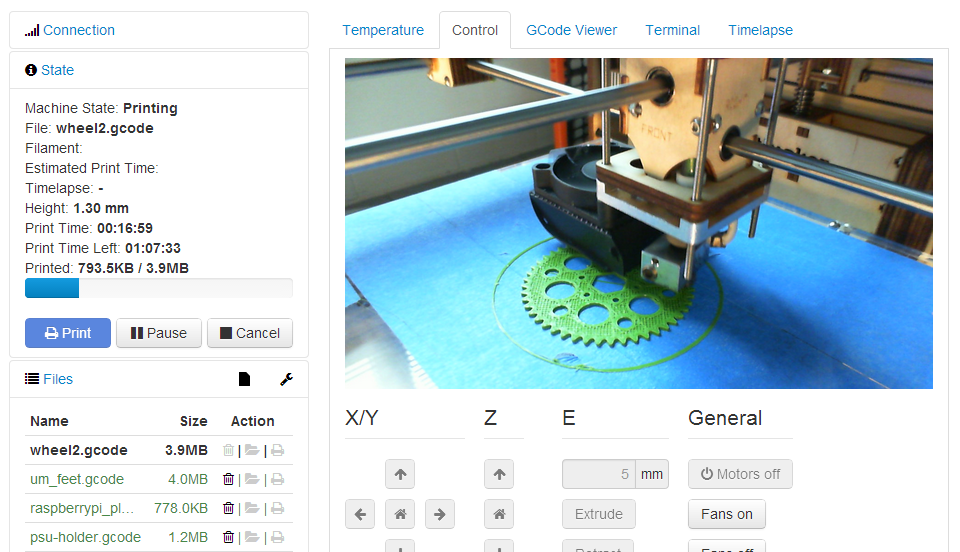 Best 3D Printing Software #20: OctoPrint