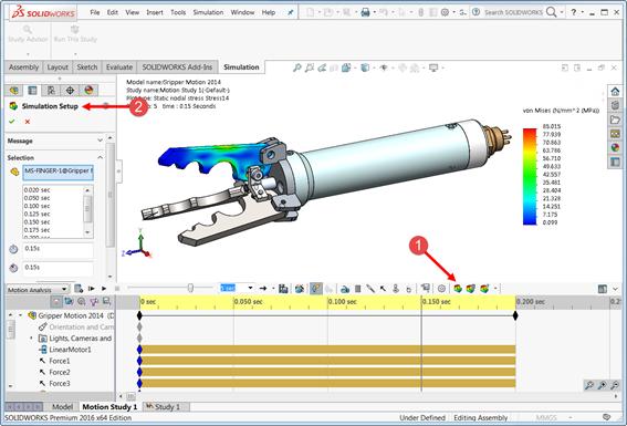 ออกแบบเครื่องจักรด้วย SolidWorks Motion Analysis