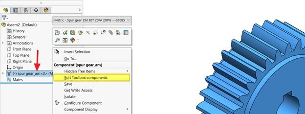 การสร้าง แบบเฟืองเกียร์ ในหน้าต่าง Assembly_SOLIDWORKS