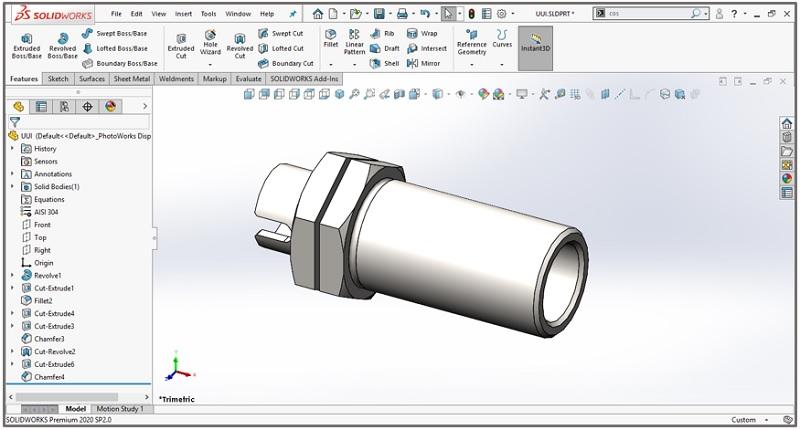 วิธีทําเกลียว SolidWorks ด้วยคำสั่ง Thread
