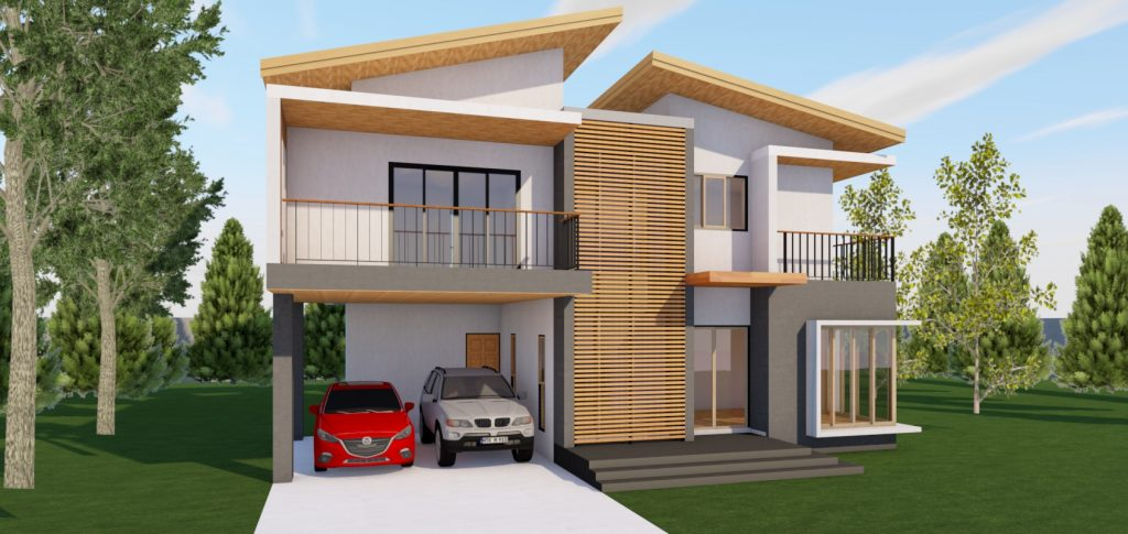 บ้านพักอาศัย 2 ชั้น (ArchiCAD-APPBIM-T002) ขนาด 210 ตารางเมตร