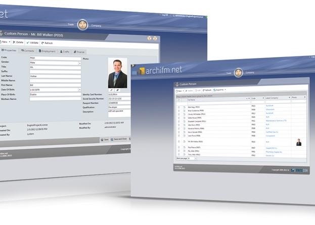 การเก็บข้อมูลของ HR ใน ArchiFM_