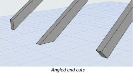 ARCHICAD 23 : Beam Column End Cuts