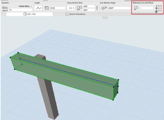 ARCHICAD 23 - Beam Column Reference Axis