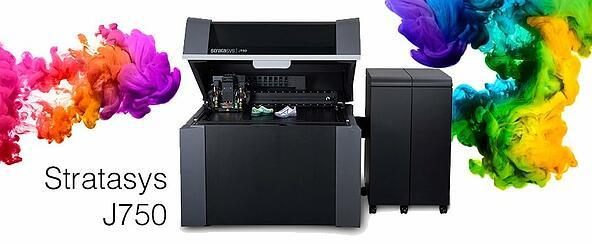 3D Printer จาก Stratasys J750 เทคโนโลยี Poly jet สามารถพิมพ์ชิ้นงานแบบ Multi-Color และ Multi Material