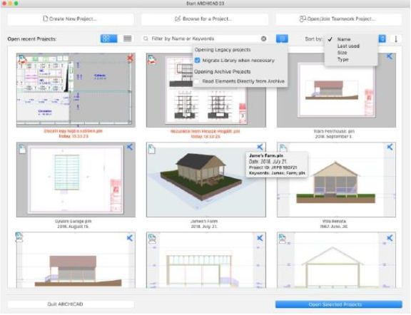 ARCHICAD23 : Startup Dialog-02