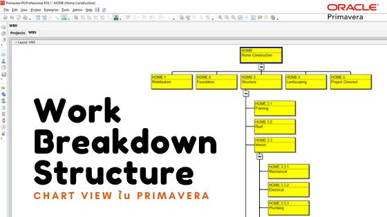 การสร้าง Work Breakdown Structure รูปแบบ Chart View ใน Primavera