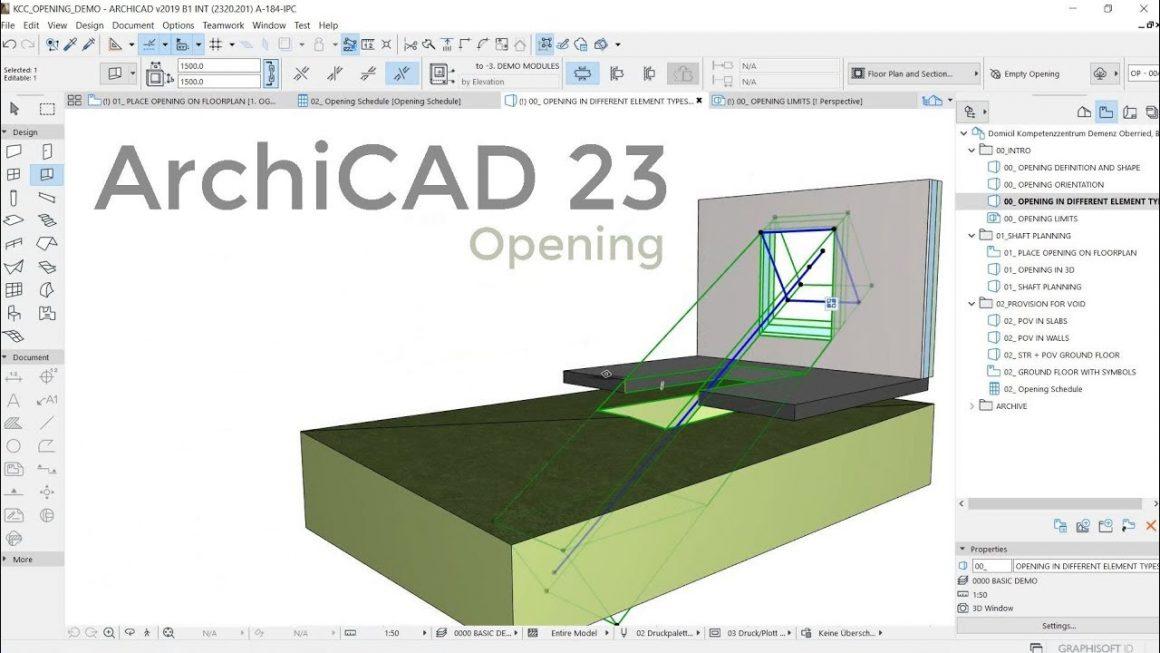 รีวิวใช้งานคำสั่งใหม่ใน ArchiCAD 23 !! Opening Tool การเจาะพื้น ผนัง