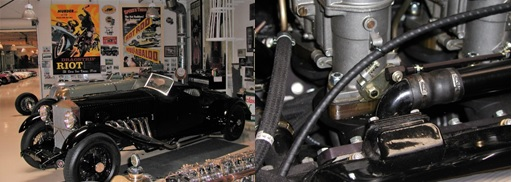 Left: 1934 Rolls-Royce Merlin Right: Carburetor Spacers & valve cover breather tubes
