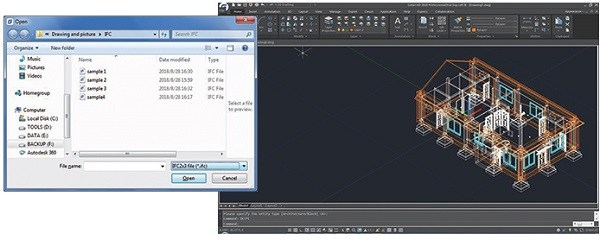 GstarCAD Features Import Export IFC-file
