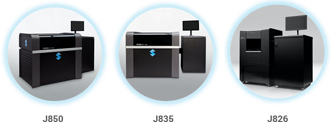 The Stratasys J850, J835 and J826