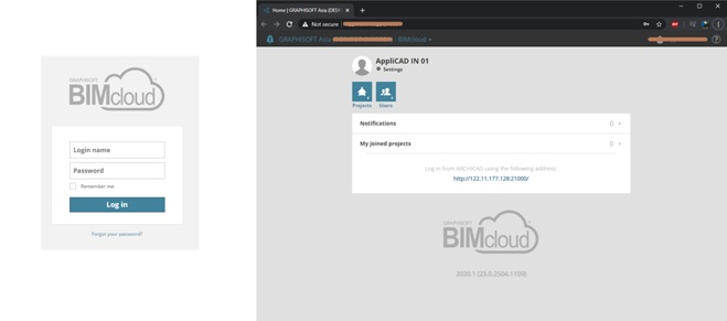 BIMcloud Login