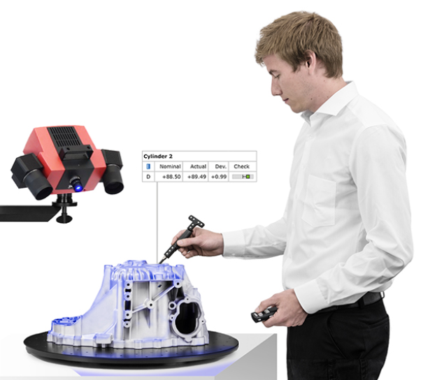 All-round inspection - Scanning, probing, tracking in a single system.