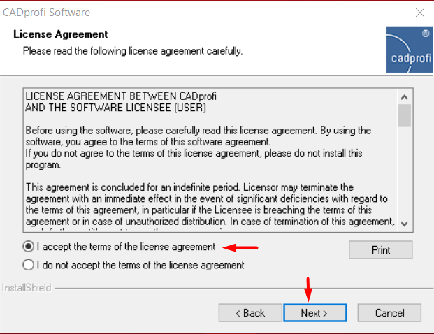 CADprofi License Agreement