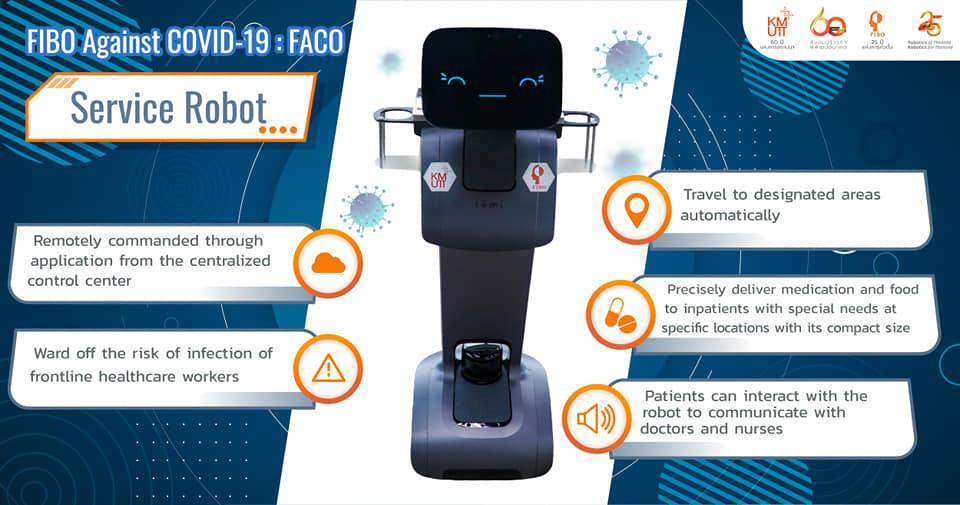 """FACO-ฟาโก้"" หุ่นยนต์สู้โควิด-19 : Service Robot"