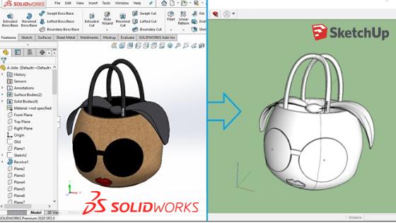 การ Export Model จาก SOLIDWORKS to SketchUp