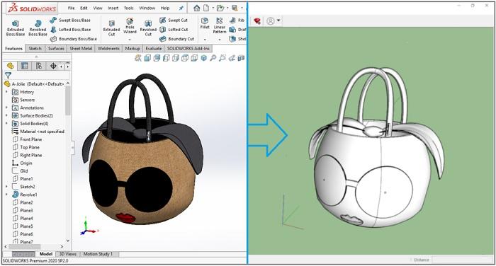 การ Export Model จาก SOLIDWORKS ไปยัง SketchUp