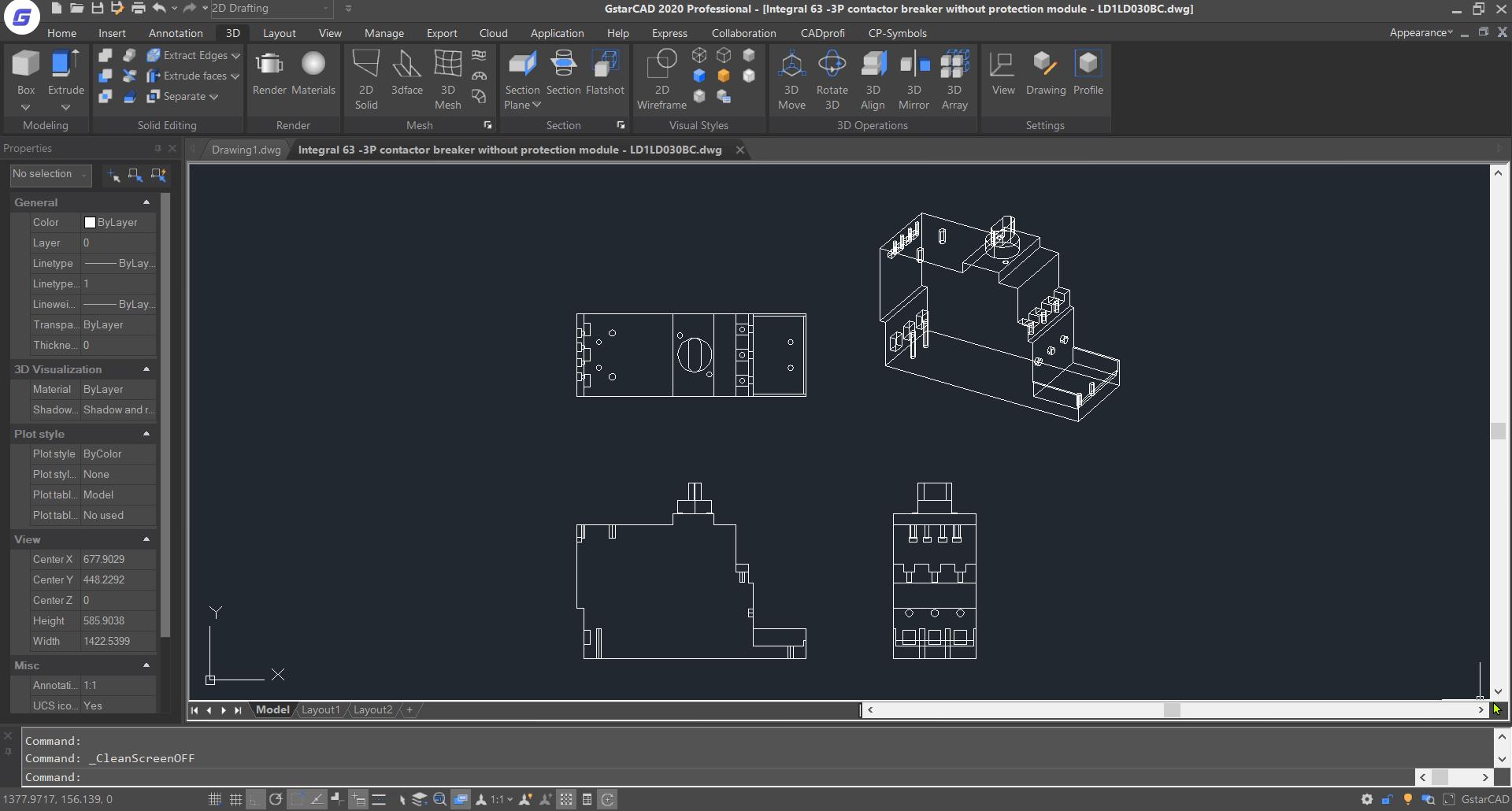 สร้าง Dynamic Block AutoCAD & GstarCAD : สร้างวัตถุที่ต้องการสร้างเป็น Dynamic Block ทุกๆ มุมมอง