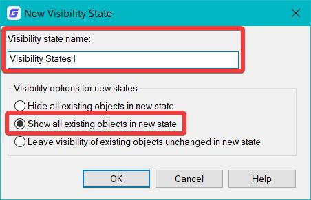 คลิกคำสั่ง New โปรแกรมจะเปิดหน้าต่างให้ตั้งชื่อ และตั้งค่า การสร้าง View ใหม่