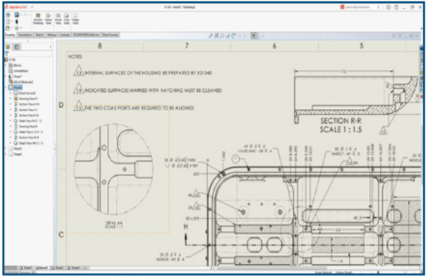 SOLIDWORKS 2021 - Drawing Detailing Mode Improvements