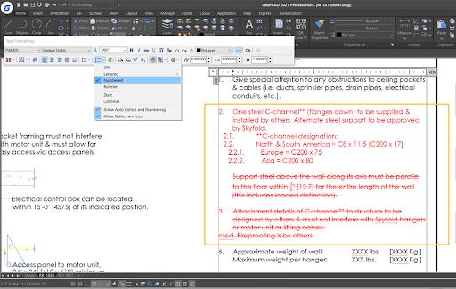 GstarCAD 2021 : MText Editor