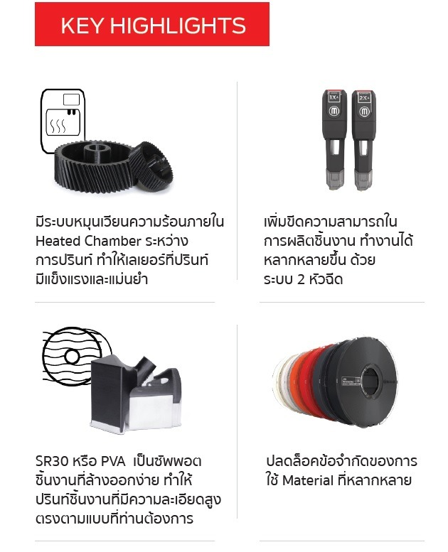 MakerBot METHOD X 3D Printer Workstation เพื่องานผลิต