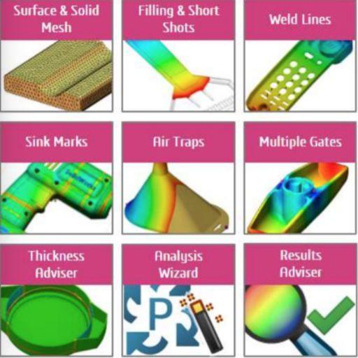 ความสามารถของ SOLIDWORKS Plastics Standard